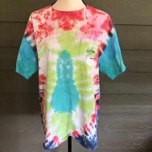 Guy Harvey Tie Dye T-Shirt Hippie Hipster Large